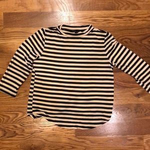 Lucia Couture striped mock neck top